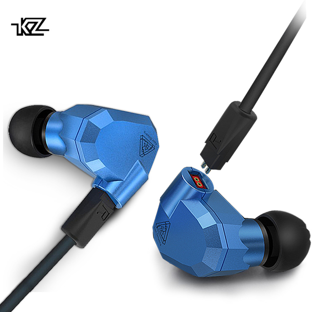 Hot Sales Original KZ ZS5 2DD+2BA Hybrid In Ear Earphone HIFI DJ Monito Running Sport Earphones Earplug Headset Earbud