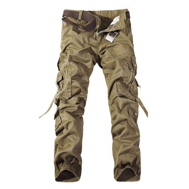 Top qualität männer military camo cargo hosen freizeit baumwolle hosen cmbat camouflage overalls 28 40 AYG69
