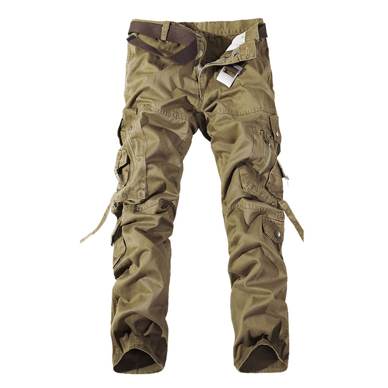 MISNIKI men military cargo pants trousers camouflage