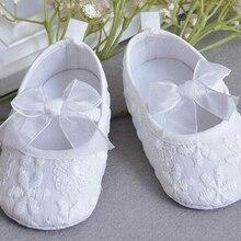 Обувь для маленьких девочек; белая хлопковая обувь для новорожденных; обувь для малышей; обувь для маленьких девочек; обувь для новорожденных; обувь для крестин и свадьбы с бантом; детская обувь mary jane