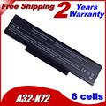 JIGU Аккумулятор Для Ноутбука ASUS A32-K72 A72 A72D A72DR A72F A72J A72JK A72JR K72 K72D K72DR K72DY K72F K72J K72JA 4400ANH 10.8 В