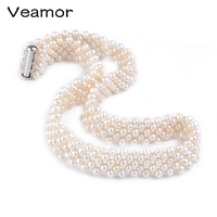 VEAMOR Amazing White Pearl Fashion Necklace Beautiful Girls And Mother Jewelry Gifts Jewelry Wholesale Choker Statement Necklace
