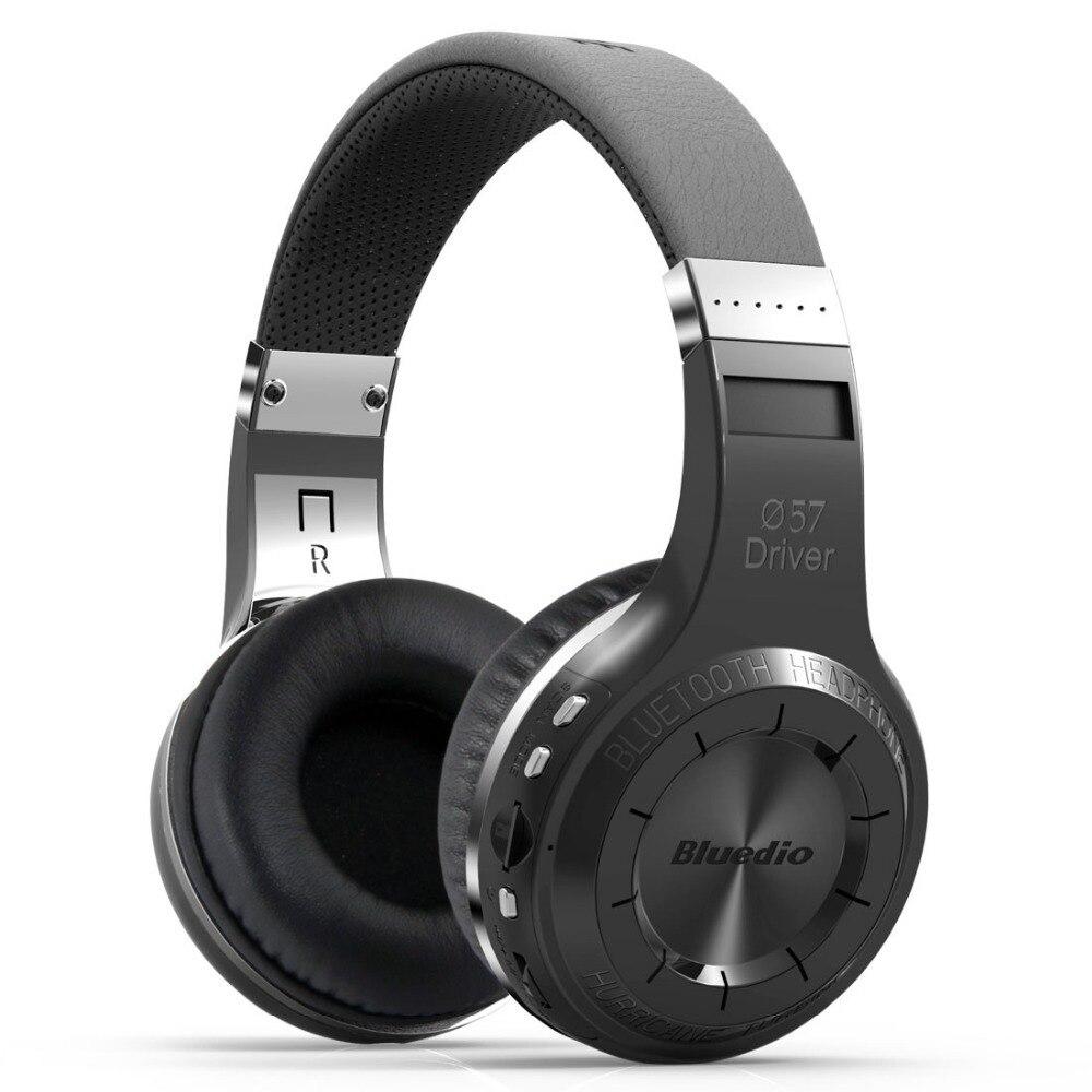 Original bluedio H + Bluetooth auriculares estéreo inalámbricos Super Bass Music Mp3 player auriculares con micrófono FM BT4.1 auriculares