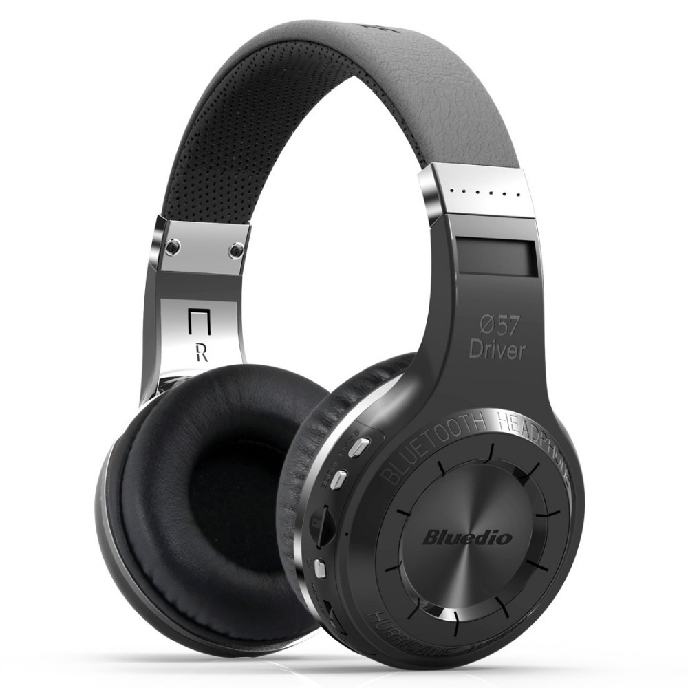 Originele Bluedio H + Bluetooth Stereo Draadloze hoofdtelefoon Super Bass Muziek Mp3-speler Headset met Microfoon FM BT4.1 hoofdtelefoon