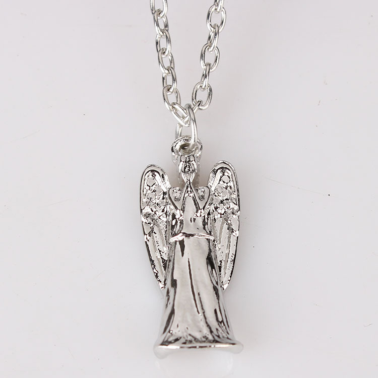 2014 nice design NEW BBC TV DOCTOR DR. WHO GREY WEEPING ANGEL ANGELIC 1 PENDANT NECKLACE hot sale