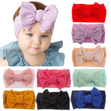 Baby Headband Baby Girl Headbands for Girls Bandeau Bebe Fille Baby Hair Accessories Baby Turban Bows Newborn Headband Headwrap(China)