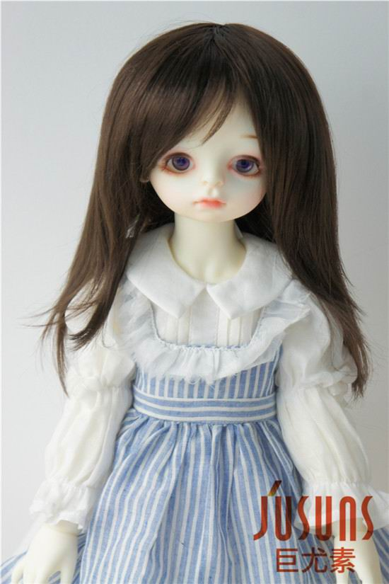 JD046 9-10inch BJD Doll wig 23-25cm synthetic mohair wigs Unisex nature Middle Length doll hair