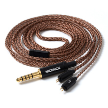 NICEHCK 8 Core 6N GC-OCC Single Crystal Copper Cable MMCX/2Pin 3.5/2.5/4.4mm Balanced  For KZAS10 CCAC16 NICEHCK NX7/M6/EBX/F3 lz 8 core 6n single crystal copper silver plated cable 2 5 3 5 4 4mm balanced cable with mmcx connector for lz a5 a4 hq8 hq10