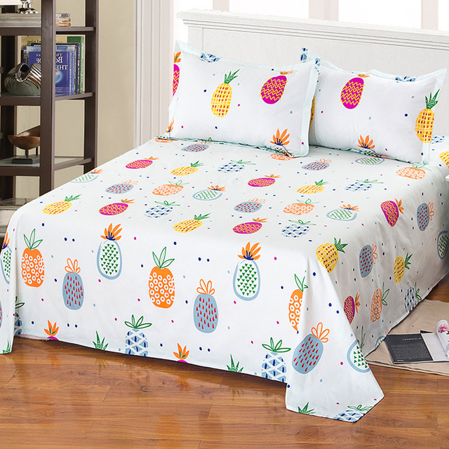Free Shipping White Cotton Polyester Bed Sheet Mattress Cover Printing Bedding Linens Sheets With Double King Size 230 230cm