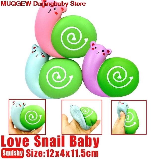 New Cute Lovely Snail Squishy Slow Rising Fun Funny Gadgets Interesting Toys Stress Relief Squeeze Toys Decoration Phone Straps