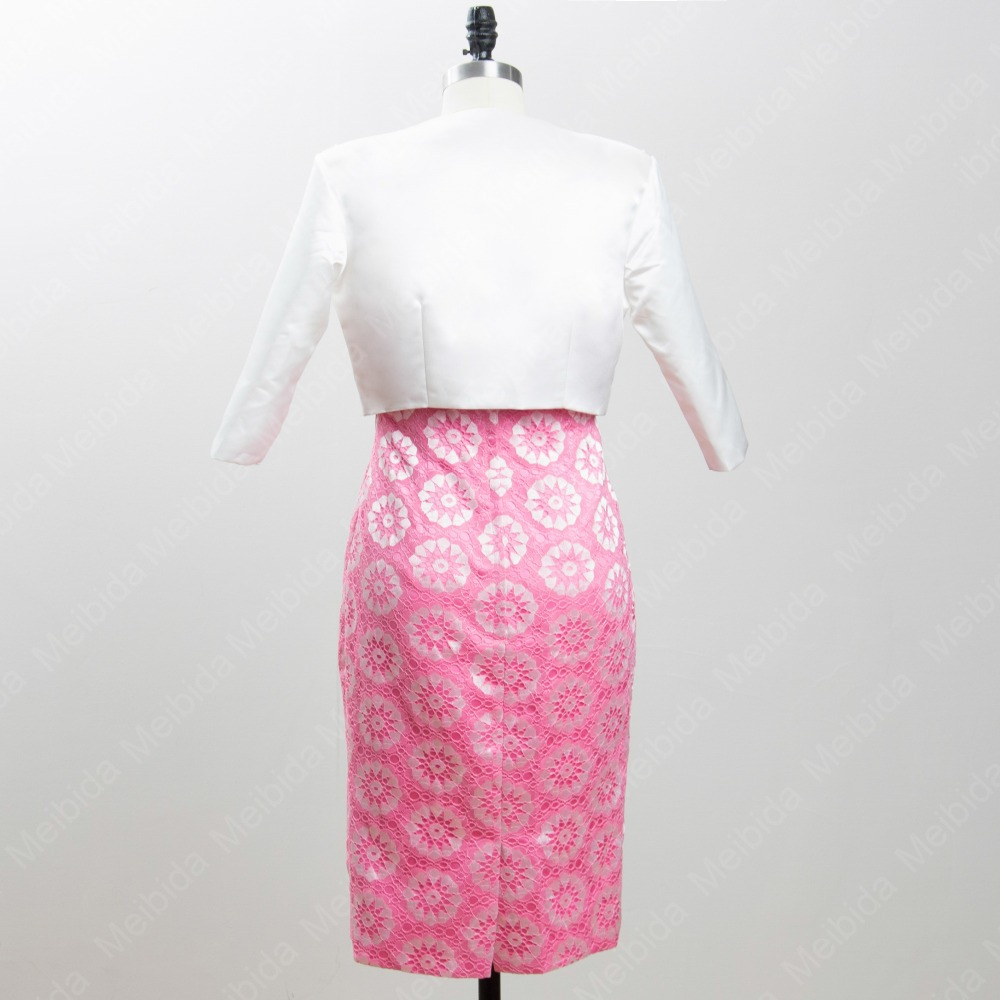 bd53c625785 Flower Patterns Mother of the Bride Dress with Jacket White Pink Skirt Beautiful  Pretty Mother Dress to Party Vestidos Madrinha-in Mother of the Bride ...