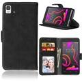 New Wallet Case For BQ Aquaris E5 4G 5.0 inch Frosted Leather Pu Kickstand Cover BQ E5 With Card Slot Holder Photo Frame Pocket