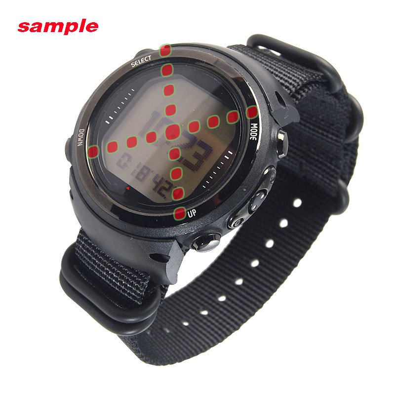Para o Relógio Do Computador de Mergulho Suunto D4 D4i Adaptadores de Cinta de Nylon + ABS + Screwbars