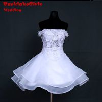 100% Real picture Custom made Strapless Neck A Line Wedding Dresses lace Appliques Button back Bridal Gowns Wedding Dress 2017