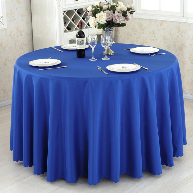Round Bright Polyester Tablecloth