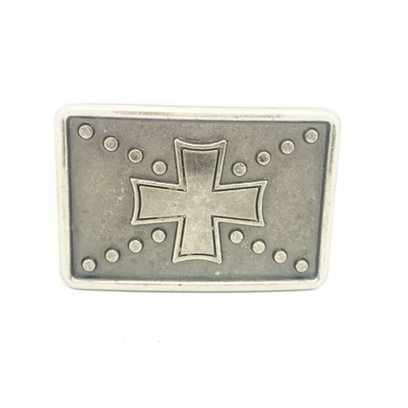 Rectangular Vintage Cross Cowboy Belt Buckle Metal Belt Clip Belt Accessories