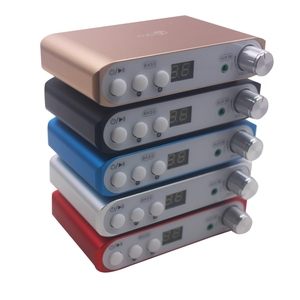 Image 2 - ハイファイのbluetooth 4.2 dspデジタルパワーアンプ2.1チャンネルステレオオーディオサブウーファーアンプ基板80ワット + 40WX2ベースアンプ