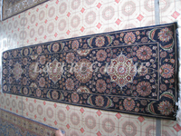 Free shipping 2.5'x10' 160 Line persian woolen carpet , hand knotted persian runner Oriental handmade Persian Rug mixed colors