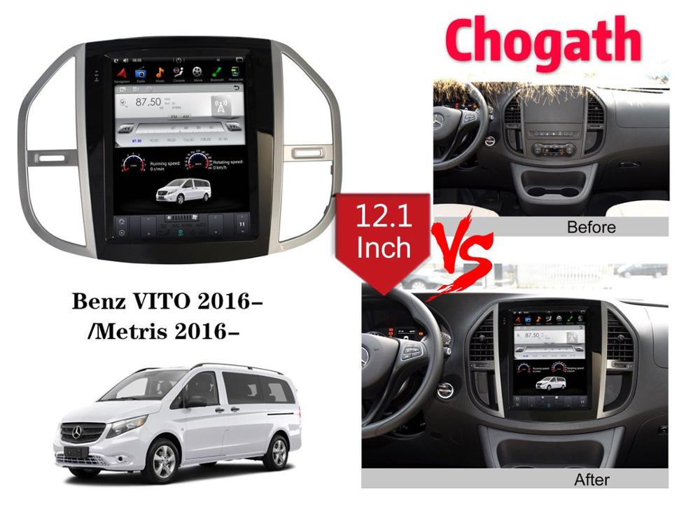 Chogath  car multimedia player android 7.0 car gps navigation radio 2+32G tesla type for Benz VITO 2016-2018/Metris 2016-2018Chogath  car multimedia player android 7.0 car gps navigation radio 2+32G tesla type for Benz VITO 2016-2018/Metris 2016-2018
