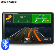 7 inch Car GPS navigation Bluetooth avin 256MB 800Mhz 8GB Full Europe/USA/ Russia navitel navigator Sat Nav Truck vehicle gps