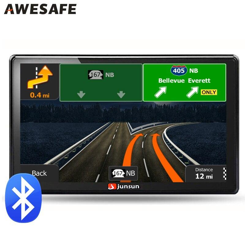 7 inch Car font b GPS b font navigation Bluetooth avin 256MB 800Mhz 8GB Full Europe