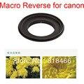 Frete grátis Alumínio 67mm Macro Reversa Anel Adaptador de lente para câmera CANON EOS 67 Ef 5d 5d2 7d 50d 60d 70d 18-135mm lens