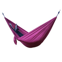 Best 2 People Portable Parachute Hammock For Outdoor Camping Purple 270 140 Cm