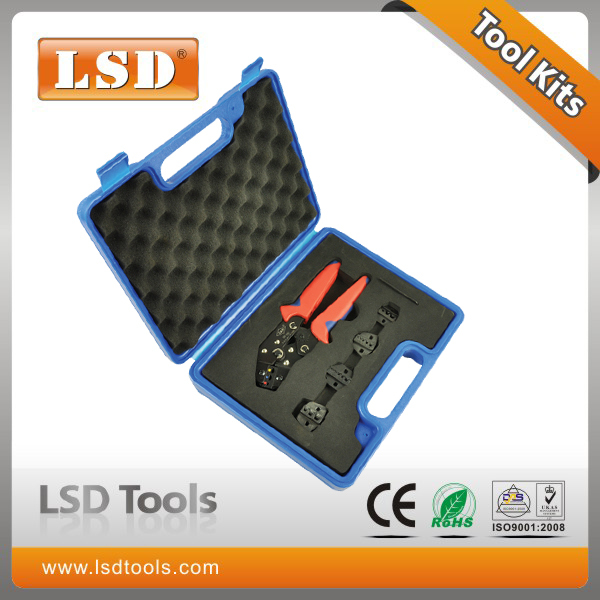 crimping tools set DN02C-5D1 with one 0.5-2.5mm2 crimping pliers and four crimp dies combination crimping tool plastic box