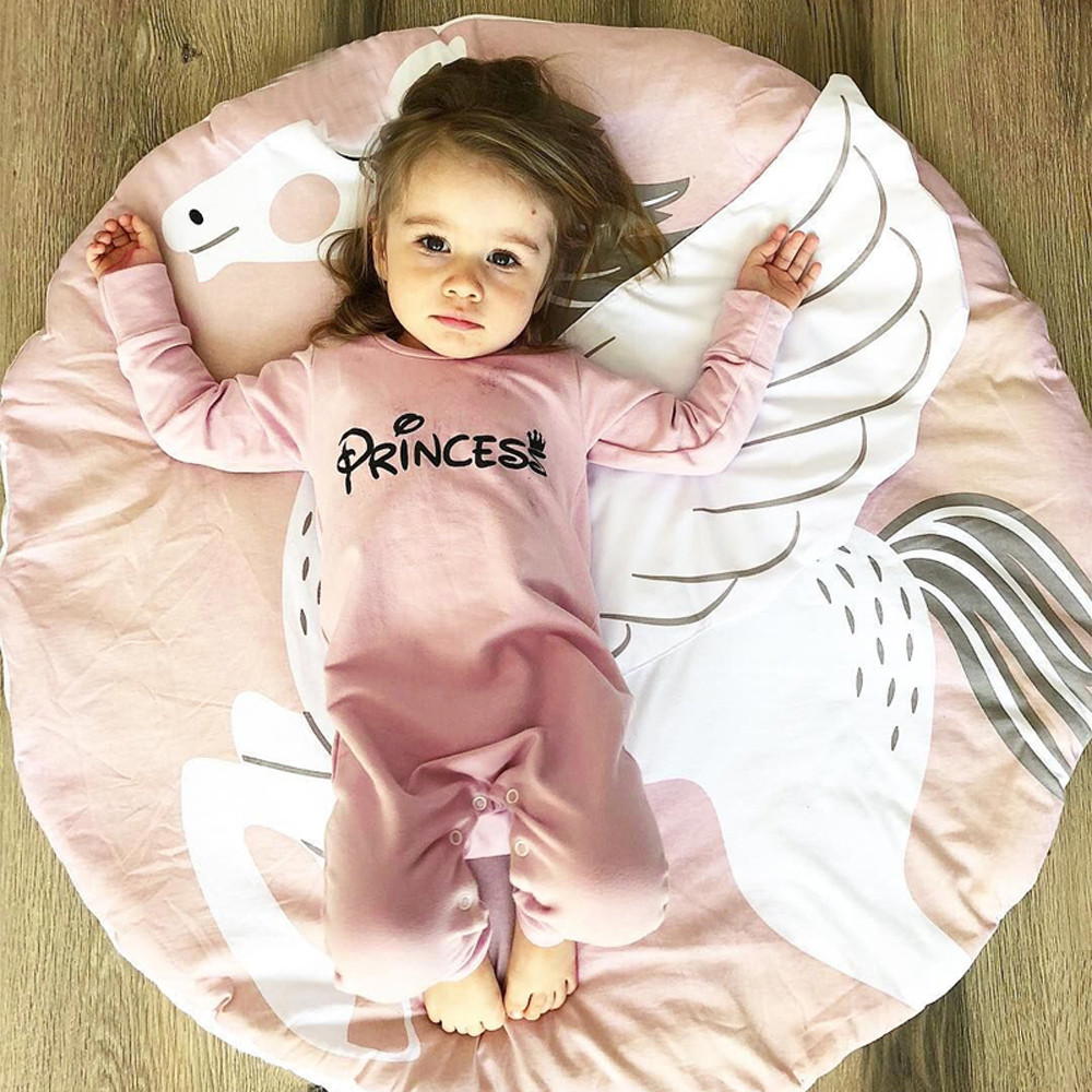 Cute Baby Girl   Romper   O-neck Jumpsuit Letter pattern Princess   Romper   Children Clothes Outfits Clothes newborn baby girl clothes