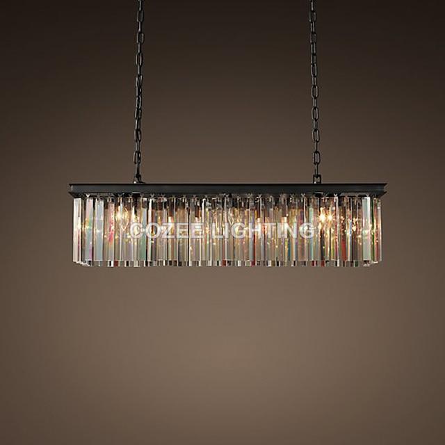 Vintage Linear Crystal Chandelier Indoor Lighting Cristal Hanging ...