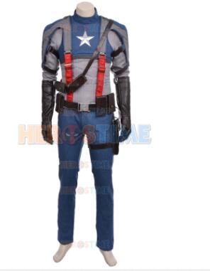 2017 deluxe Капитан Америка костюм супергероя