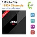 S912 H96 Pro + Amlogic caixa de tv android 4 K smart tv + 6 meses HD iptv Árabe Francês REINO UNIDO portugal Itália europa 1150 + Canais de servidor