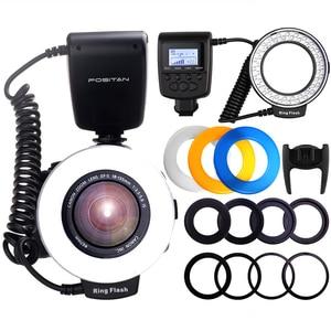 Image 2 - Travor 48PCS LED Macro Ring Sáng RF 550D Tốc Dành Cho Nikon Canon Olympus Pentax 8 Adapter Ring/4 Đèn Flash Máy Khuếch Tán Tinh Dầu