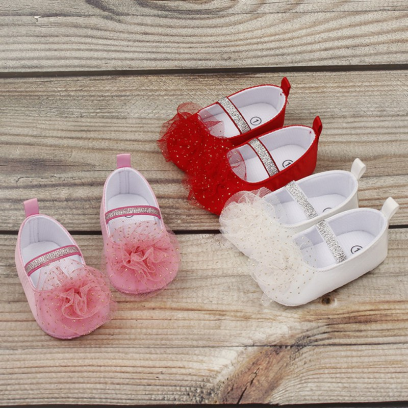 New Cute Little Princess Dress Shoes Baby Shoes Soft Bottom Non Slip Sneakers Walker Toddler Multi Color Optional in First Walkers from Mother Kids