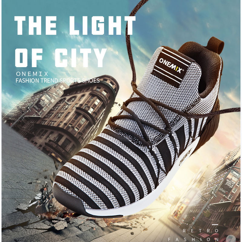 ONEMIX The Light Of City Autumn&Winter Men's Running Shoes Breathable Knit Mesh Sports Shoes Increasing Height Sneakers Jogging apple summer new arrival men s light mesh sports running shoes breathable fly knit leisure comfortable slip on sneakers ap9001