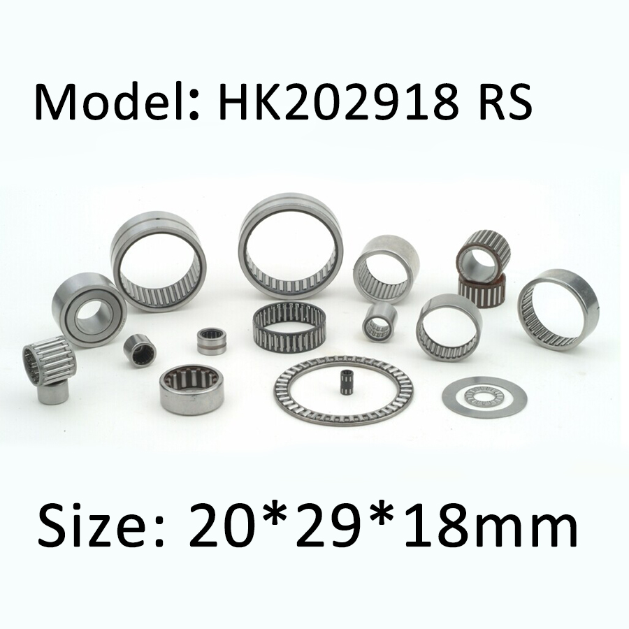 HK202918 RS Bearing Size 20 x 29 x 18 mm ( 2 PC) Drawn Cup Caged Needle Roller Bearings HK202918RS With Open End HKS 2OX29X18PXI bk3038 needle bearings 30 37 38 mm 1 pc drawn cup needle roller bearing bk303738 caged closed one end