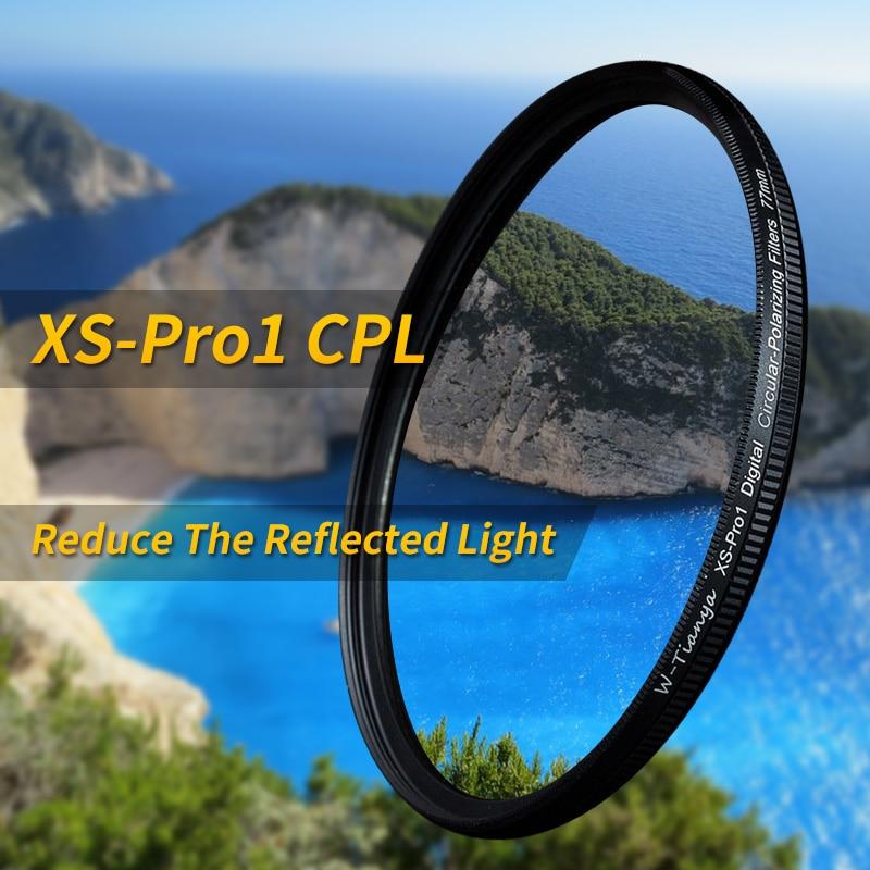 Wtianya slank xs-pro1 Digital CPL sirkulær polarisator 105MM 95MM 86MM cpl c-polariser filter ultra tynn ramme CPL filter