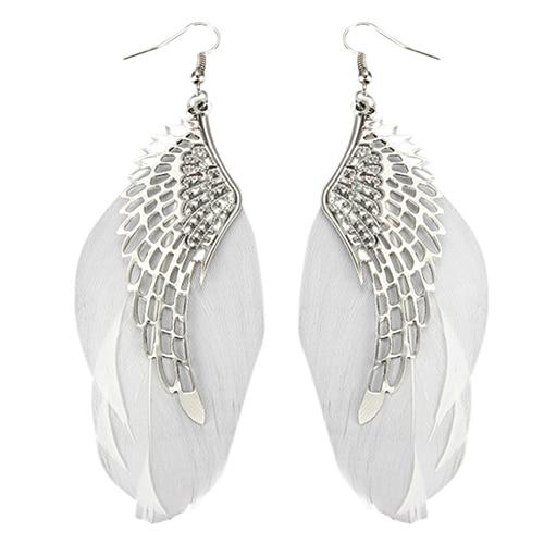 Women S Angel Wings Feather Dangle Earring Hook Chandelier Drop Long Earrings 7dgx In From Jewelry Accessories On Aliexpress Alibaba