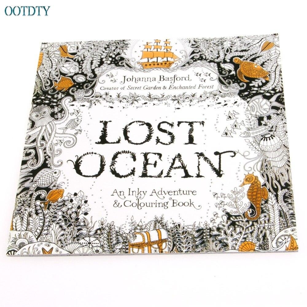 1 Pc Verloren Ozean Zeichnung Färbung Buch Graffiti Bücher Erwachsene Malerei Kinder #330 Seien Sie Freundlich Im Gebrauch