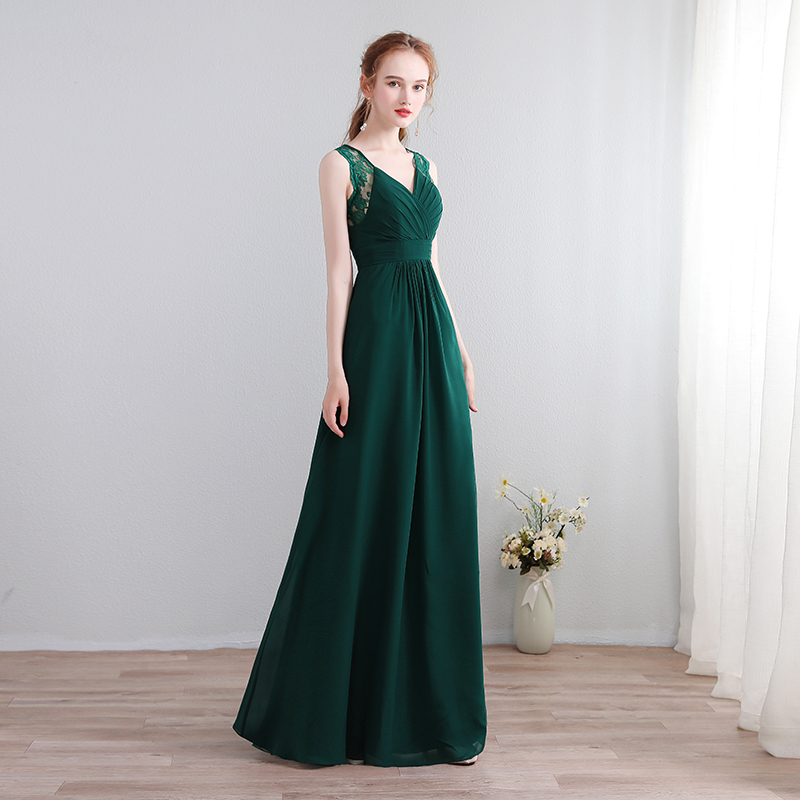 New Green Chiffon A-Line Lace   Bridesmaid     Dresses   2019 Lace Backless Off The Shoulder Homecoming Party Prom Reflective   Dresses