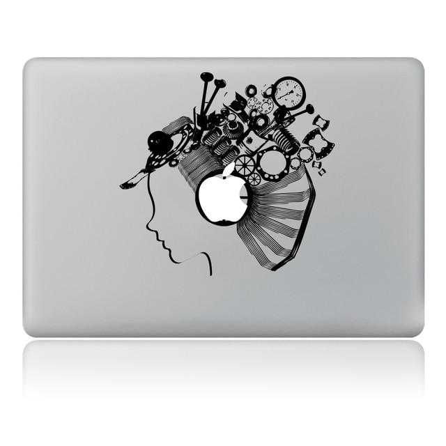 robot fille avatar vinyle decal sticker pour ordinateur. Black Bedroom Furniture Sets. Home Design Ideas