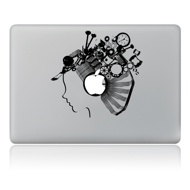 Robot gadis avatar vinyl decal sticker laptop untuk macbook pro air 11 13 15 inch laptop
