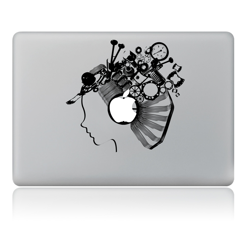 Robot girl avatar vinyl decal laptop sticker for diy macbook pro air 11 13 15 inch laptop skin in laptop skins from computer office on aliexpress com