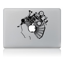 Robot Girl Avatar Vinyl Decal Laptop Sticker For DIY Macbook Pro Air 11 13 15 inch Laptop Skin(China)