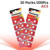 200pcs/lot 100% Original SR41 AG3 G3A L736 192 392A Panasonic LR41 Button Cell Battery Zn/MnO2 1.5V Lithium Coin Batteries LR 41