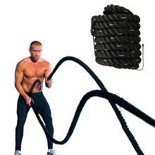 Professionel MMA Fighting Battle Rope Muskelklatring Tykt Træningsstyrke Body Power Gym Fitness Training Rope 9M / 12M / 15M