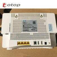 Segunda mão hw hs8546v roteador gpon ftth onu 4ge + 1tel 2usb wifi inglês firmware 99% novo