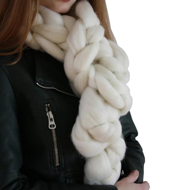 Mano Chunky punto hilo grueso lana Merino voluminoso tejer bufandas ...
