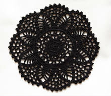 2pcs/lot Gothic Black Crocheted Tablecloth Doliles Placemats 8.3inches(21cm)(China)