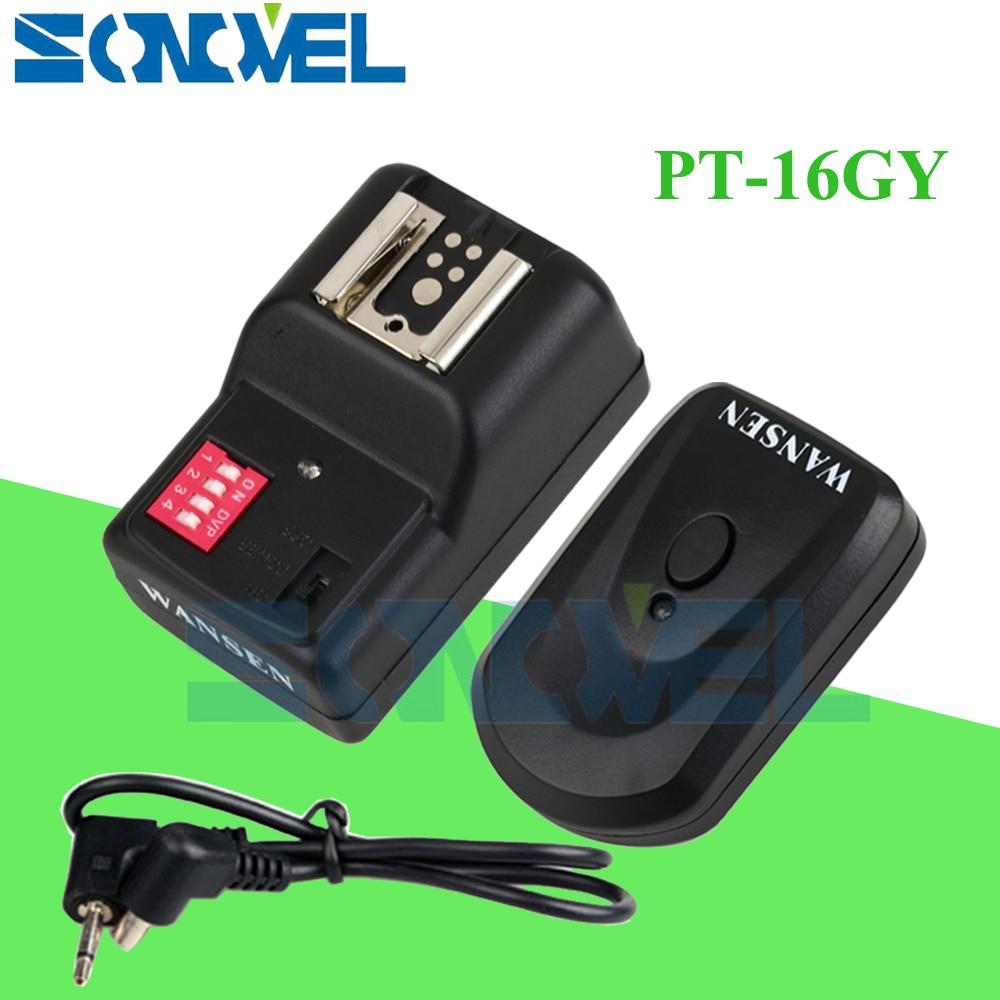 PT 16 GY 16 Channels Wireless Flash Trigger For Canon Nikon Sigma Yongnuo YN568EX II YN600EX